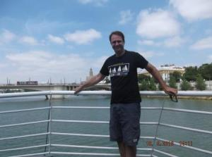 Eric on riverboat in Sevilla